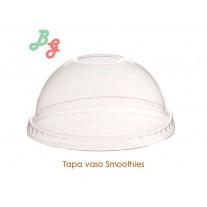 Tapa Vaso Smoothie  con agujero - Cúpula - 100 Uds