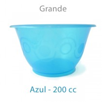 Tarrina de plástico para helado de 200cc color azul