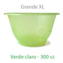Tarrina Plástico Verde Claro - 50 Uds - 300 CC.