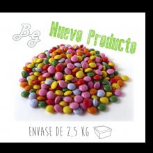 Mini Grageas de chocolate de colores - Tarrina 2.5Kg